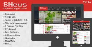 snews 1 6 news magazine responsive blogger theme new premium