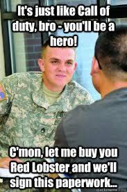 Army Recruiter Meme - scumbag army recruiter memes quickmeme