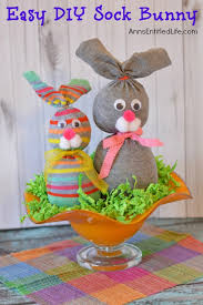 Easter Decorations For Office by No Sew Sock Bunny Day Tables And Hay