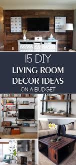 diy livingroom decor living room diy 15 cool diy furniture projects for your living