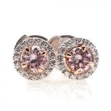 pink diamond earrings diamond earrings with halo
