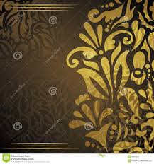 wedding invitation with gold floral decoration stock vector