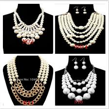 new necklace styles images New arrivals free shipping women fashion white imitation pearls jpg