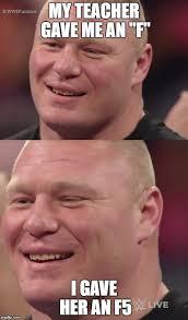 Brock Lesnar Meme - brock lesnar smile memes lesnar best of the funny meme