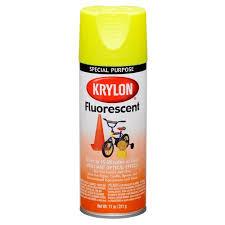 krylon fluorescent paint lemon yellow 11 oz walmart com