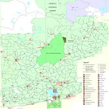 Ruskin Florida Map by Osceola National Forest Ocean Pond Campground