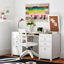Pottery Barn White Desk With Hutch Customize It Project Storage Pedestal Desk Pbteen