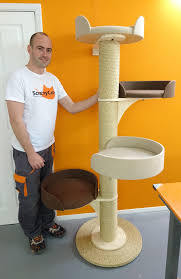 Large Cat Scratching Post Large Modular Cat Tower Made In The Uk Scratchycats