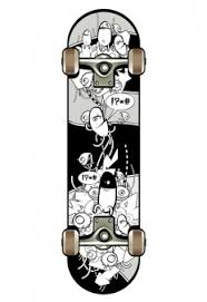 sketches vintage skateboards set vector free download