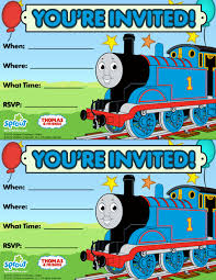 thomas the train birthday invitations template free card design