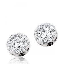 illusion earrings diamond diamond 14kwg endless diamond stud earrings