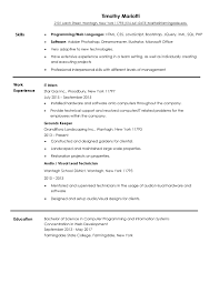 Landscaping Resume Examples Groundskeeper Description Resume Corpedo Com