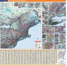 New Mexico Map With Cities And Towns by Rand Mcnally Proseries Regional Wall Map New England