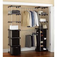 portable closet organizers mainstays storage silver black walmart