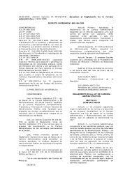 Pc M El Ds Nº 005 90 Pcm Reglamento De 276