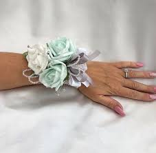 mint green corsage wrist corsages