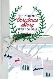redbirdblue free printable story advent calendar