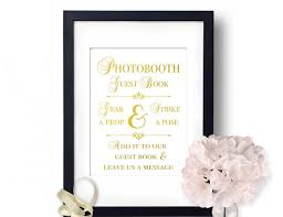 Photo Booth Sign Photo Booth Sign Wedding Photobooth Gold Wedding Decor Guest