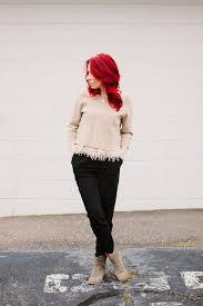 black fringe sweater i suwannee chiffon fringe sweater