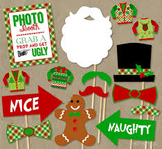 ugly sweater party photo booth props package diy instant