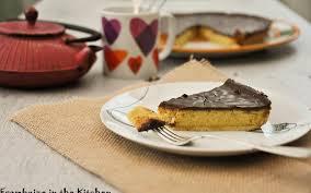 tarte au chocolat et poudre d amandes framboize in the kitchen