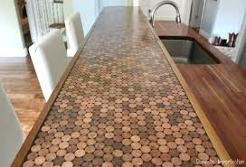 bar top sealant penny countertop domestic imperfection