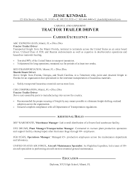 Resume Templates For Truck Drivers Resume Templates