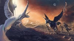 my little pony fighting fantasy art unicorns wings wallpapers