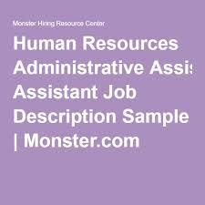 Hr Help Desk Job Description Best 25 Administrative Assistant Job Description Ideas On