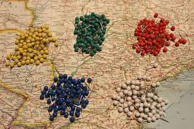Map Pins Set Of Push Pins For Travel Map World Map Usa Map