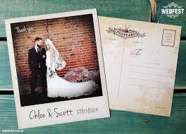 vintage chic polaroid photo wedding thank you cards wedfest