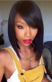 a line feathered bob hairstyles straight bob with side bangs for black girl bobs 15 stylish