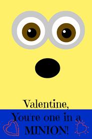 printable minion valentines