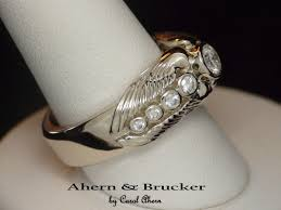 Firefighter Wedding Rings by Ahern U0026 Brucker Angel Wing Wedding Ring