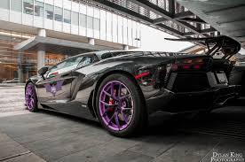 lamborghini purple aventador meeting purple bat lamborghini aventador rear side