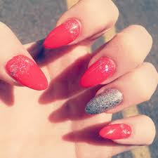 love the point nails hunnay pinterest glitter acrylics