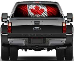 dodge ram decals canada canadian flag rear window graphic decal truck suv dodge ford