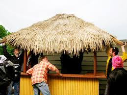 thatch panels and rolls diy tiki hut project backyard x scapes blog