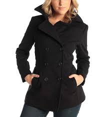 alpine swiss emma womens peacoat jacket wool blazer double
