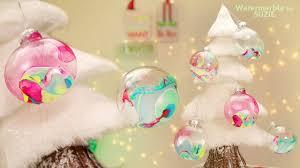 diy watermarble christmas tree ornaments youtube