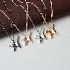 gold silver pendant necklace images Origami cat pendant necklace 40 off on every order jpg
