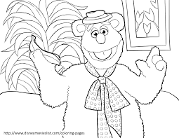 kermit the frog muppets printable coloring page sheet