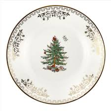 spode tree gold collection set of 4 bread and butter