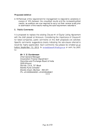 sebi discussion paper on clause 41