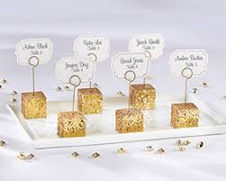 gold glitter placecard holders set of 6 my wedding favors