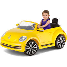 used yellow volkswagen beetle for kid trax vw beetle convertible 12 volt battery powered ride on