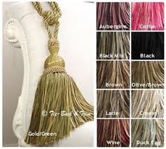 Large Drapery Tassels Pair Of Hb161 Interlude Large Luxury Tassel Curtain Tie Backs