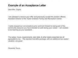 how to write a letter of acceptance