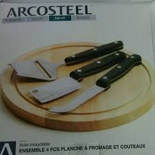 kitchen knives ebay arcosteel cheese board knives set wood 9 inch 4 cutting