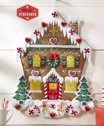bucilla kits bucilla nordic gingerbread house advent calendar kit
